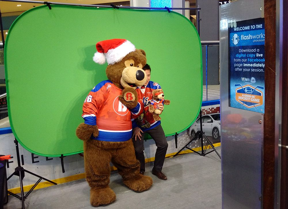 Green-screen at WEM Ice Palace Oil Kings