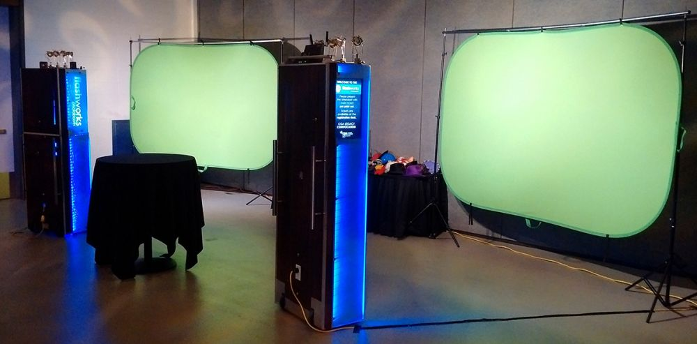 Green-screen at Chartered Professional Accountants Graduation Double Booth