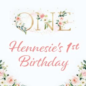 Hennesie's First Birthday