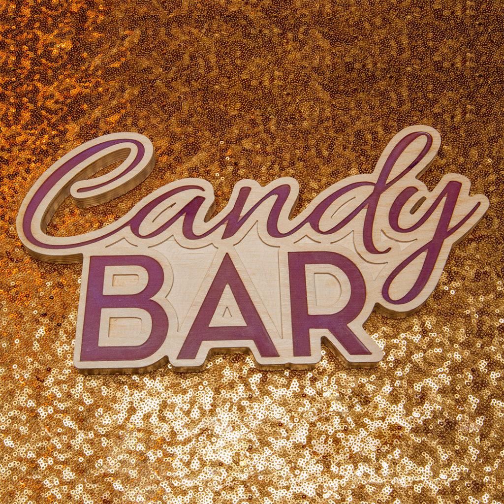 Candy Bar Table Signage