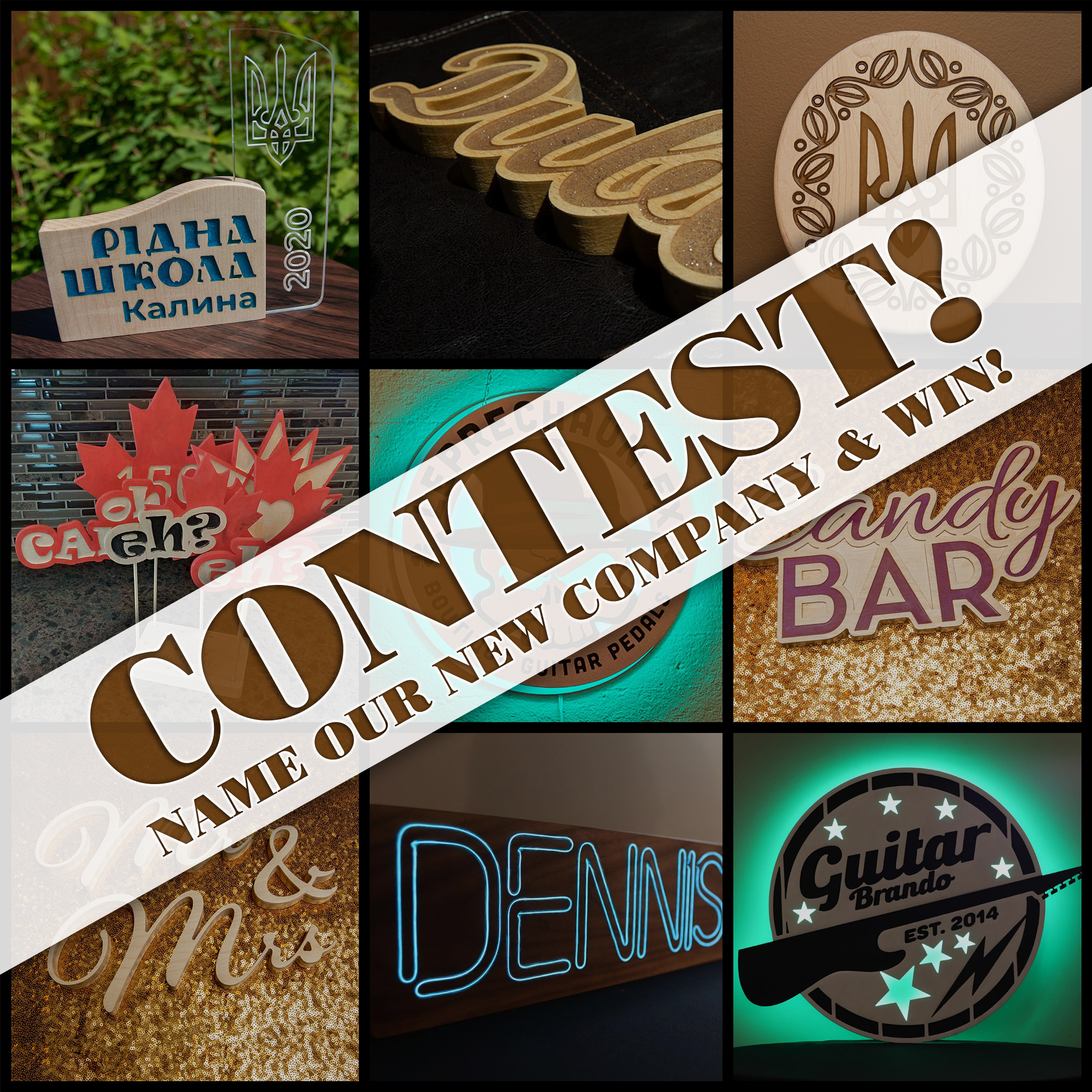 Name our New Venture Contest Collage