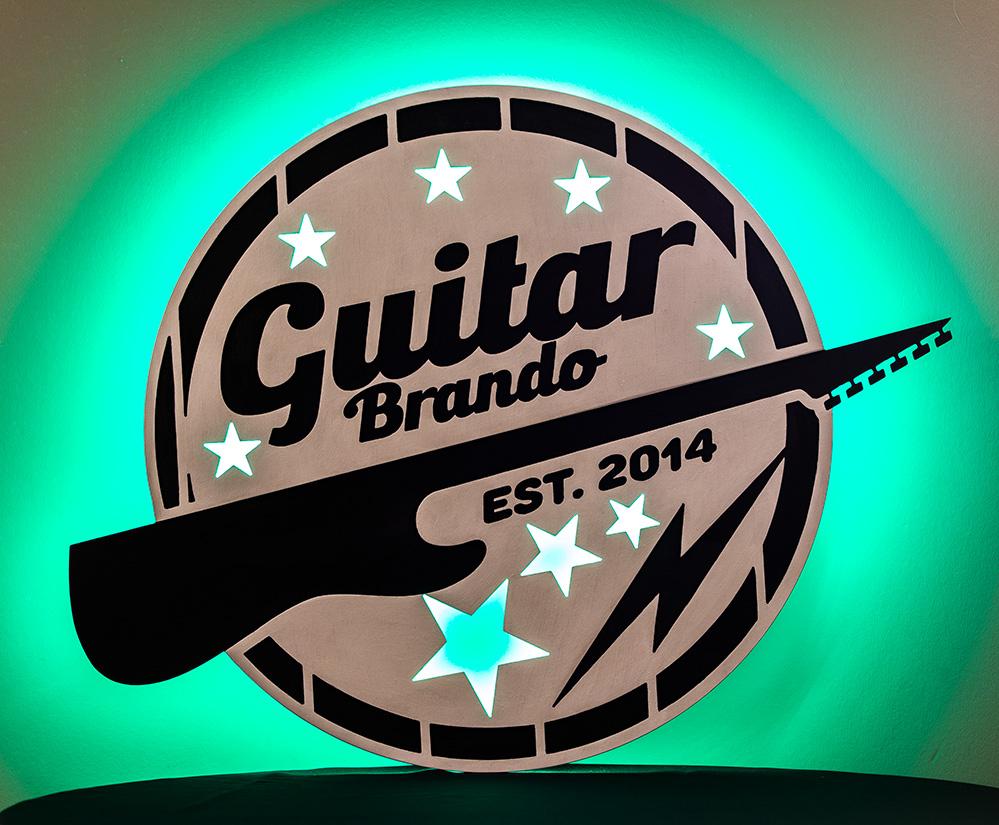 Guitar Brando Custom Sign with LED Back-lighting